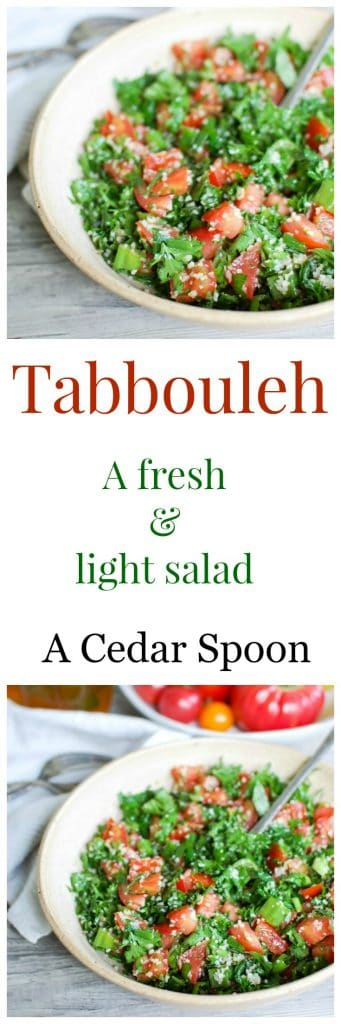 Tabbouleh is a light and fresh summer salad. So easy to make!