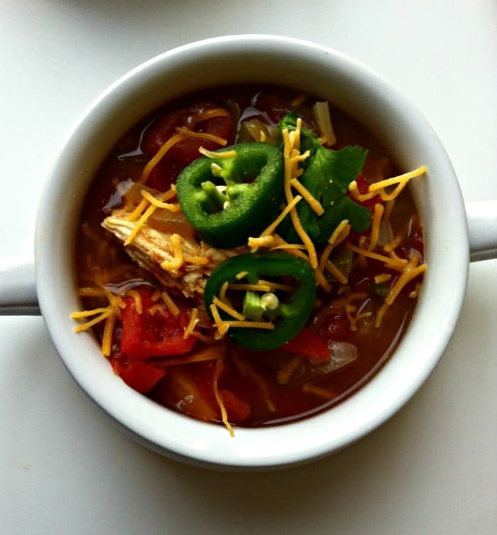 Slow Cooker Tortilla Soup - 15 Back to School Crockpot Recipes