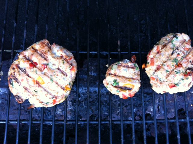 grilling - Grilled Spicy Turkey Burgers