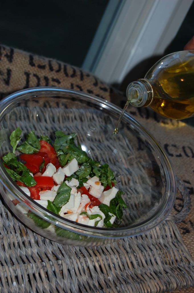 Caprese Chicken Pasta - olive oil