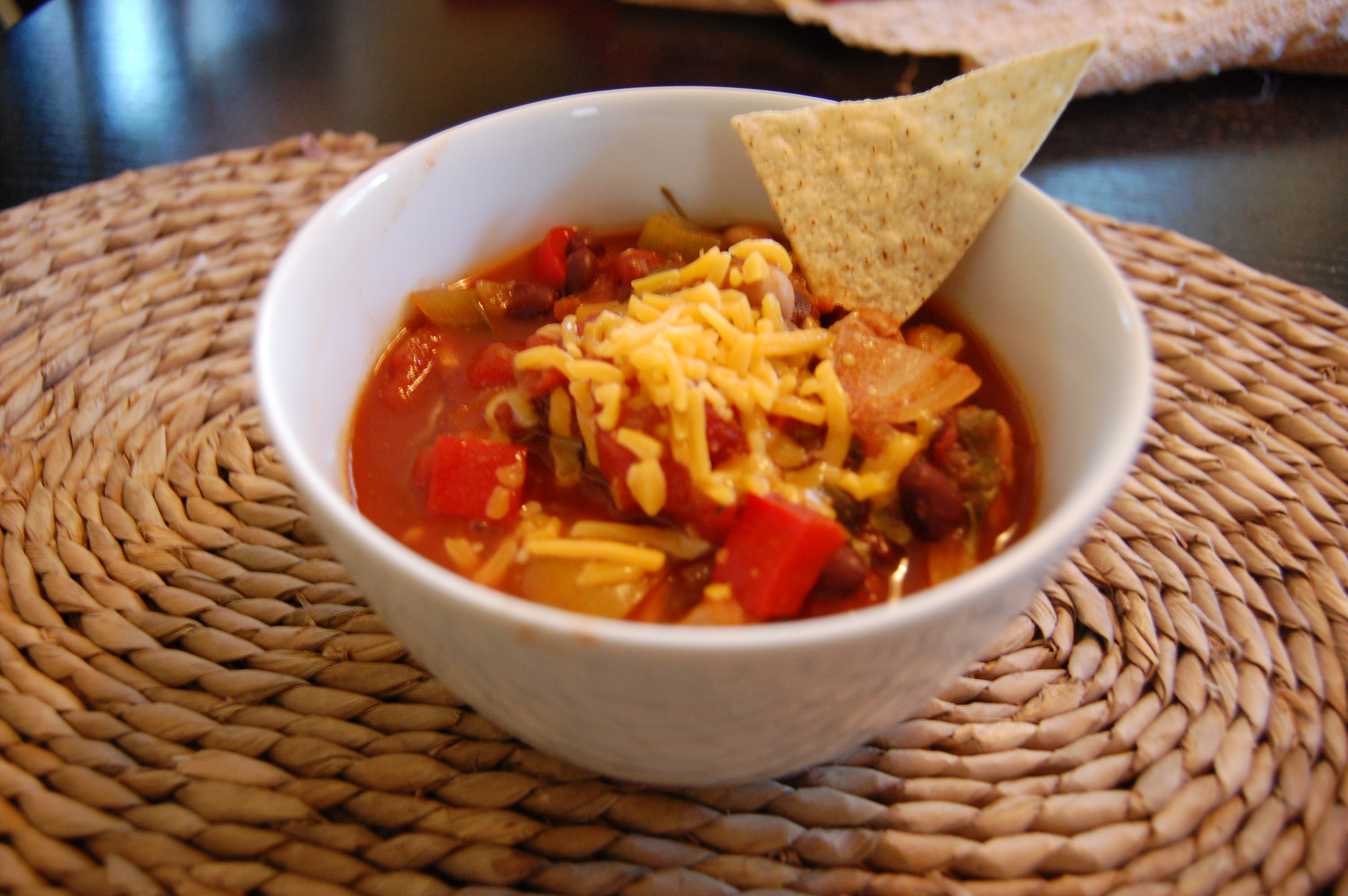 Crockpot Chickpea Chili is a vegetarian chili recipe that is perfect ...