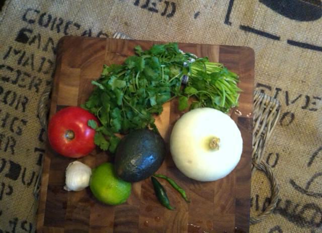 Quick & Easy Guacamole ingredients