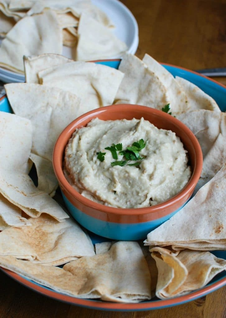 Eggplant Dip {Baba Ghanoush} is a healthy, delicious dip. This comes together in no time!