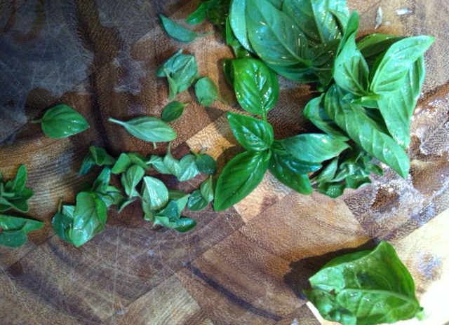 basil - Heirloom Caprese Salad