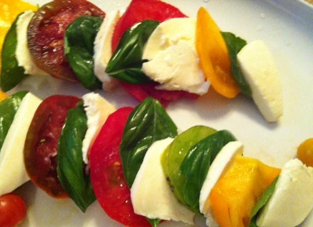 Heirloom Caprese Salad recipe from A Cedar Spoon
