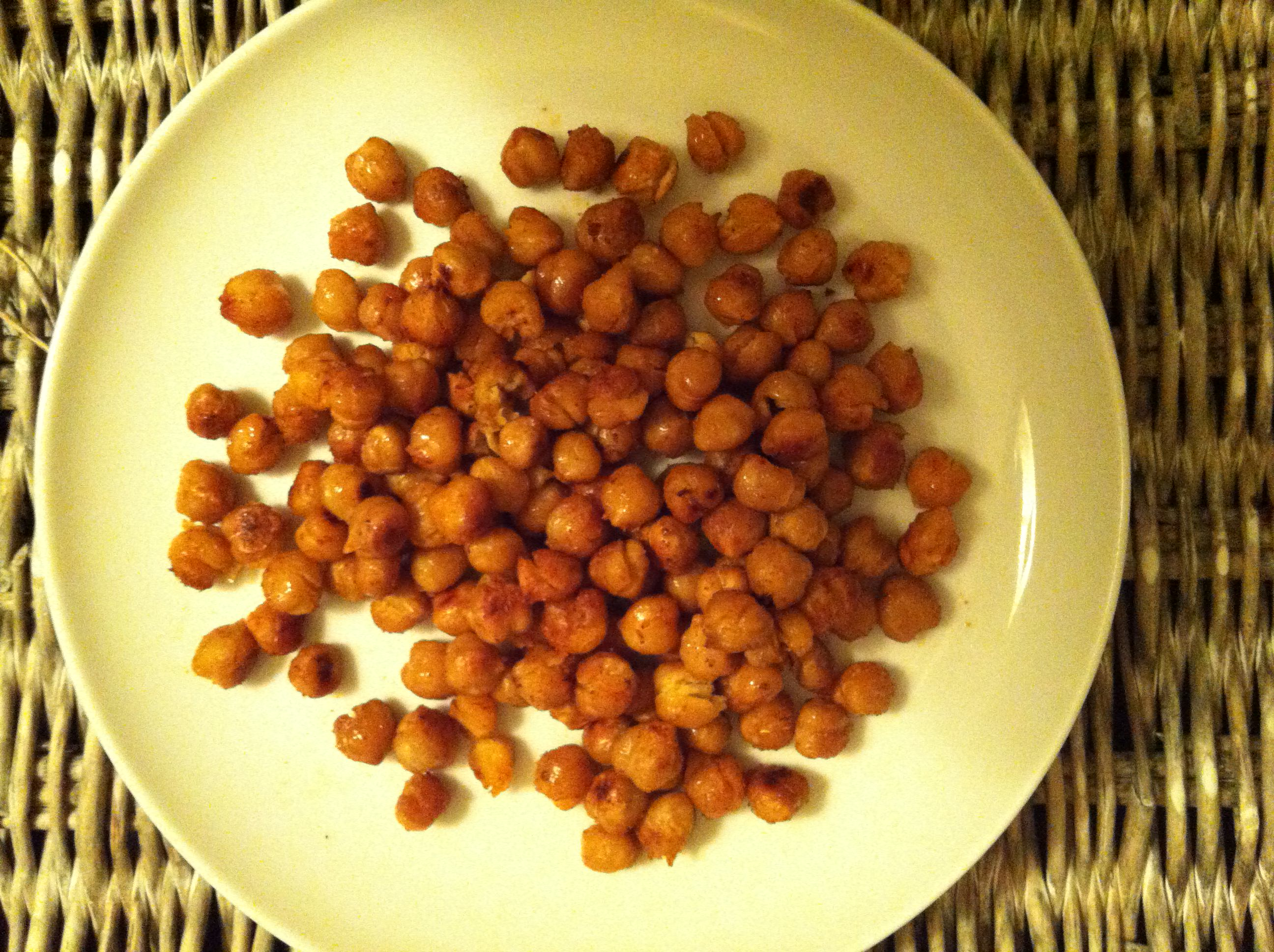 finished Roasted Chickpeas