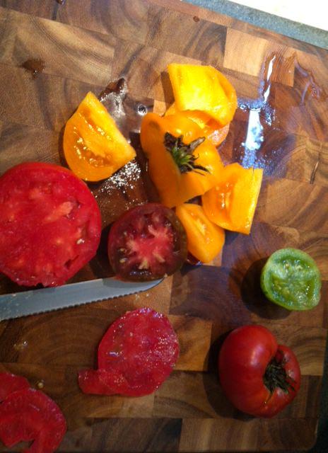 sliced - Heirloom Caprese Salad