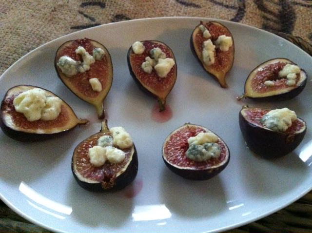 A Cedar Spoon - Roasted Figs with Blue Cheese and Honey