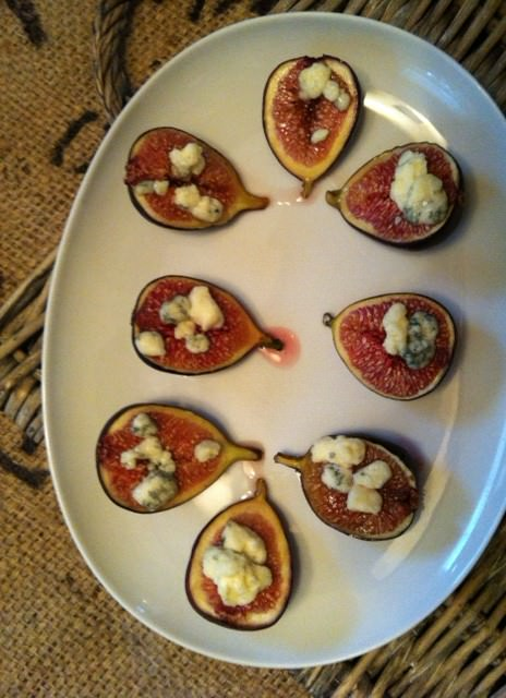 Roasted Figs with Blue Cheese and Honey Recipe from A Cedar Spoon