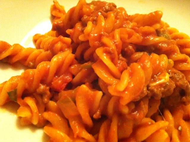 Pasta Goulash recipe from A Cedar Spoon
