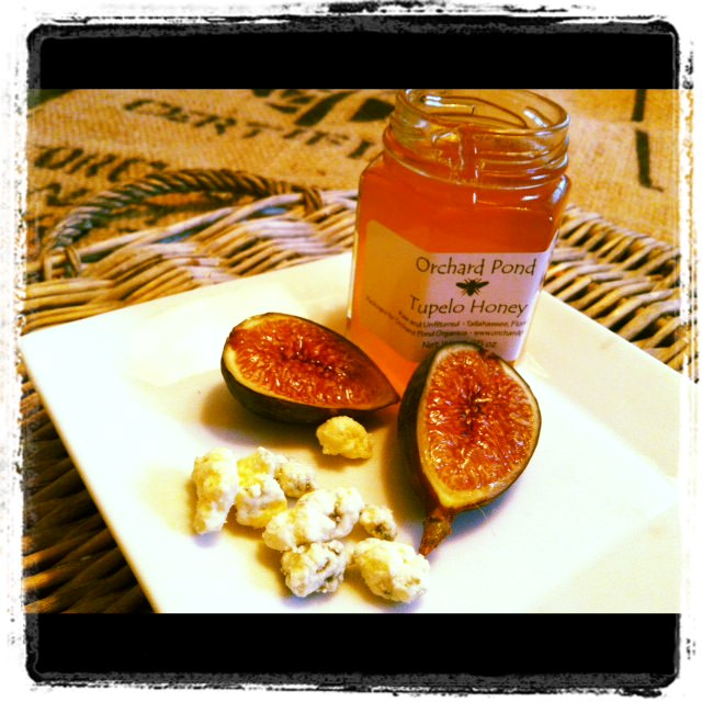 Roasted Figs with Blue Cheese and Honey from A Cedar Spoon
