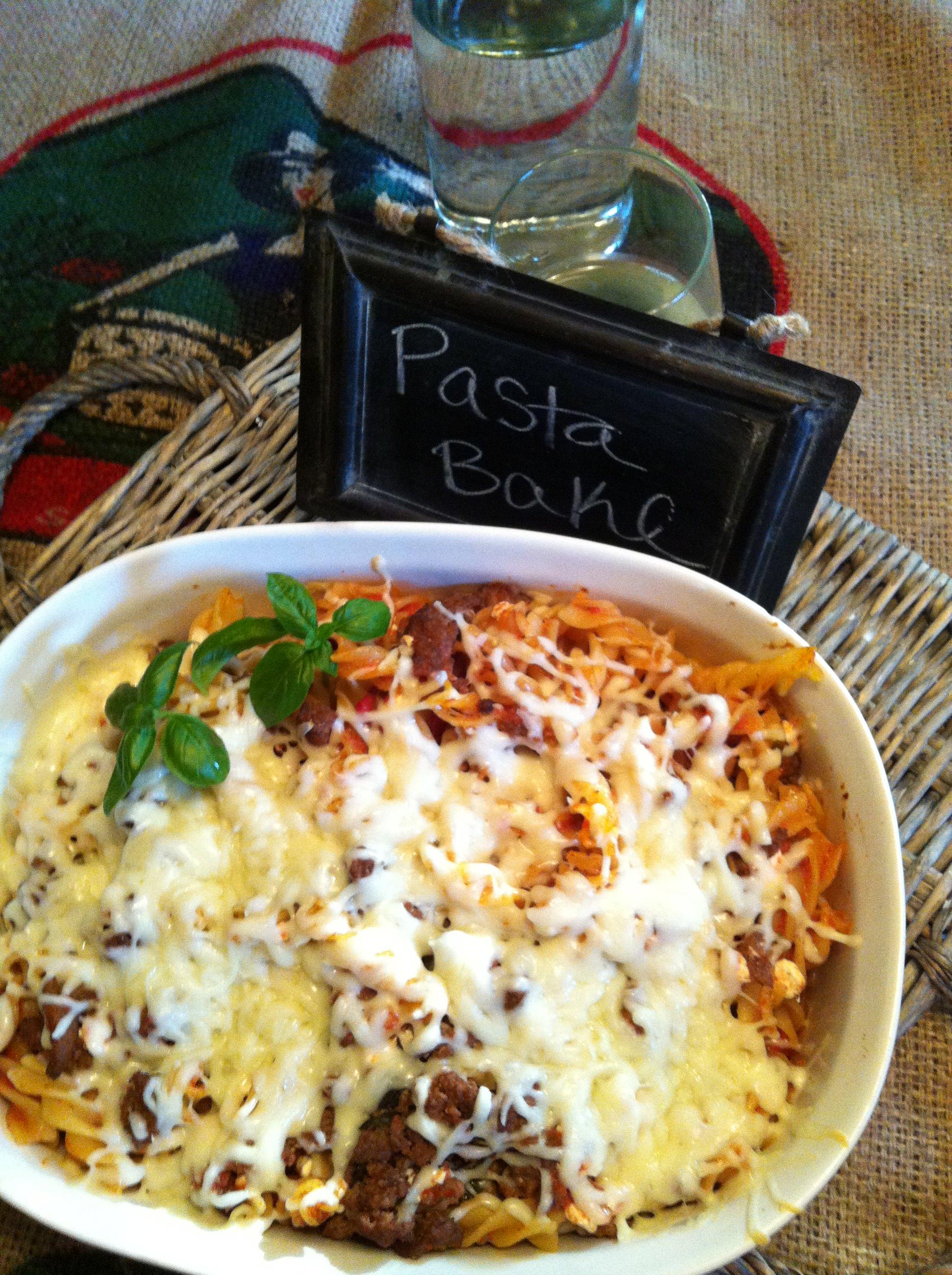 Easy Italian Pasta Bake - baked