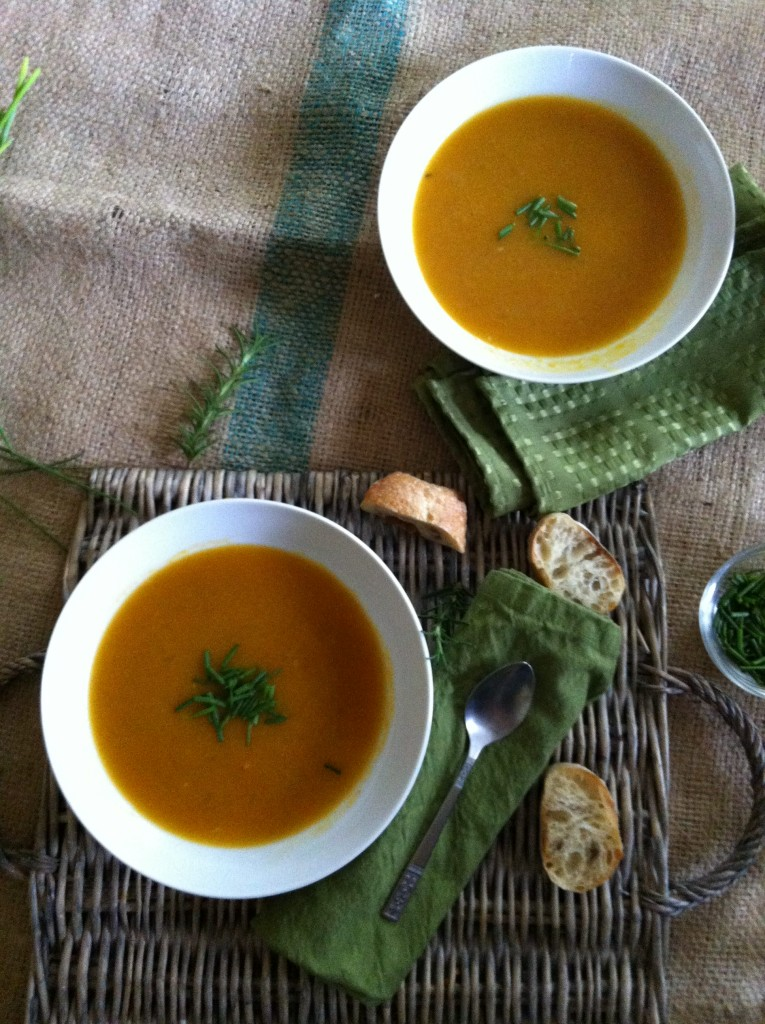 bowls of Roasted Butternut Squash Soup