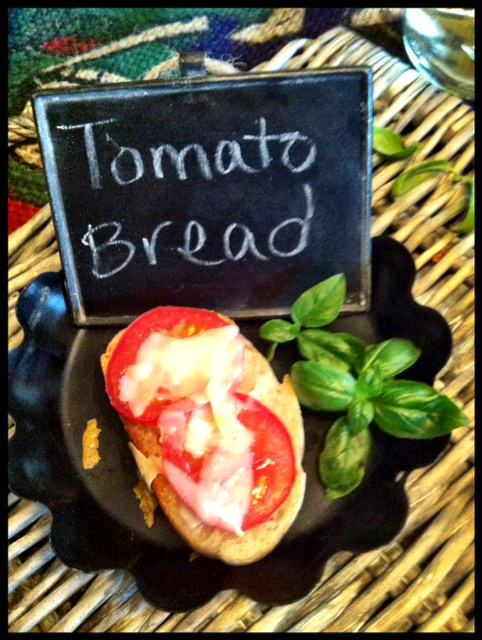 Tomato and Parmesan Toasted Baguette