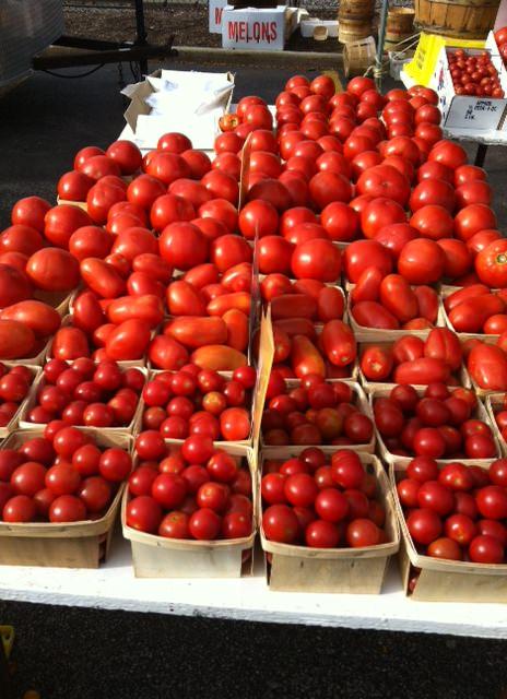 red tomatoes - Heirloom Caprese Salad