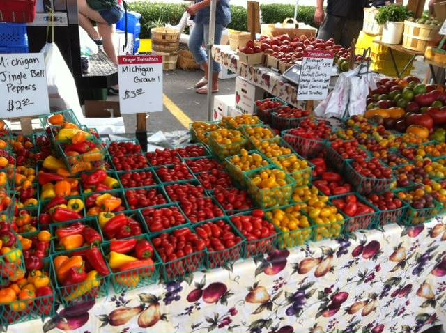 tomato table - Heirloom Caprese Salad