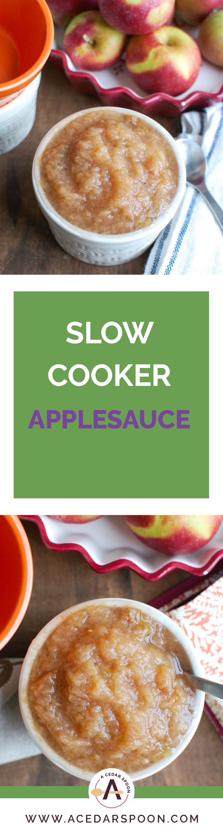 Once you make Crockpot Applesauce you will be making it time and time again. This is a favorite in my house and I love that I control all of the ingredients that go in it. When you go apple picking make a big batch of this to store in your fridge!