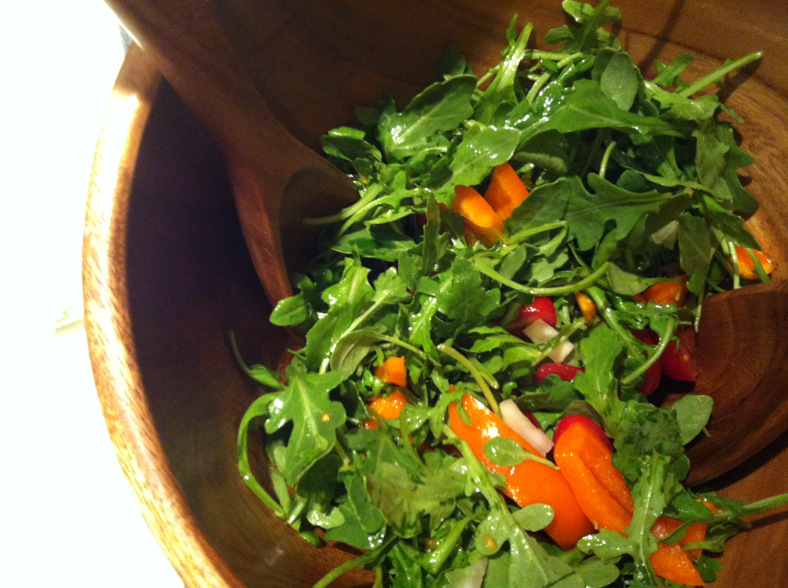 Arugula Salad with Sesame Vinaigrette