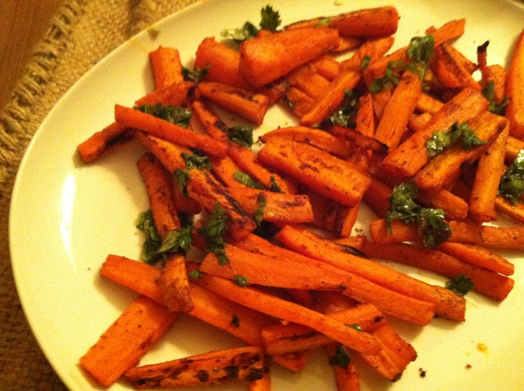 platter of Paprika Roasted Carrots