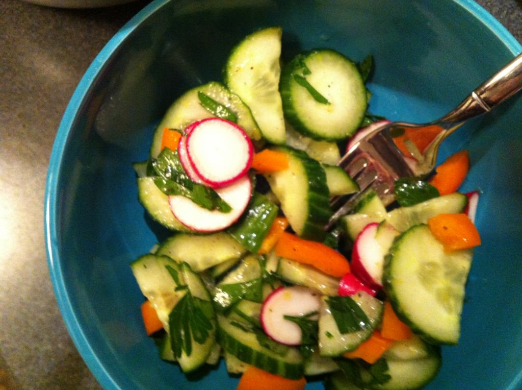 Lemon Cucumber Salad Recipe from A Cedar Spoon