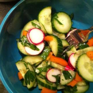 Lemon Cucumber Salad acedarspoon.com