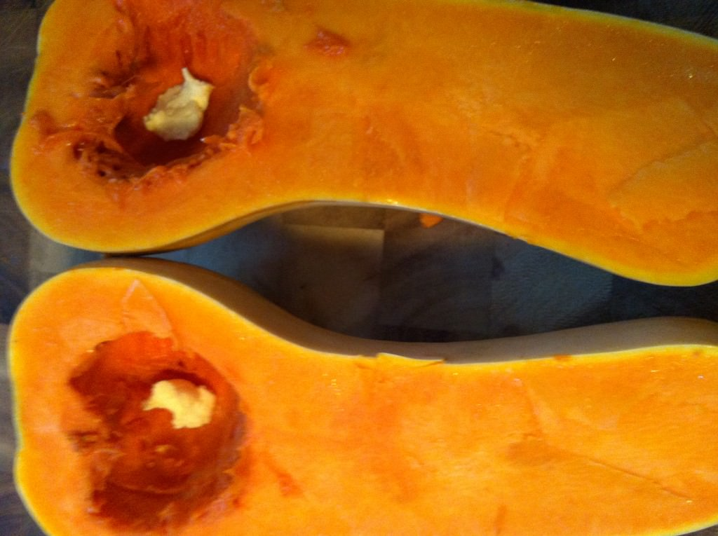Roasting Butternut Squash - add margerine
