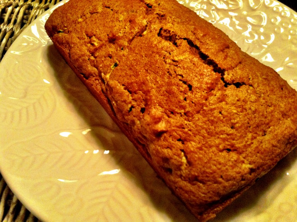 plated Pumpkin Zucchini Bread