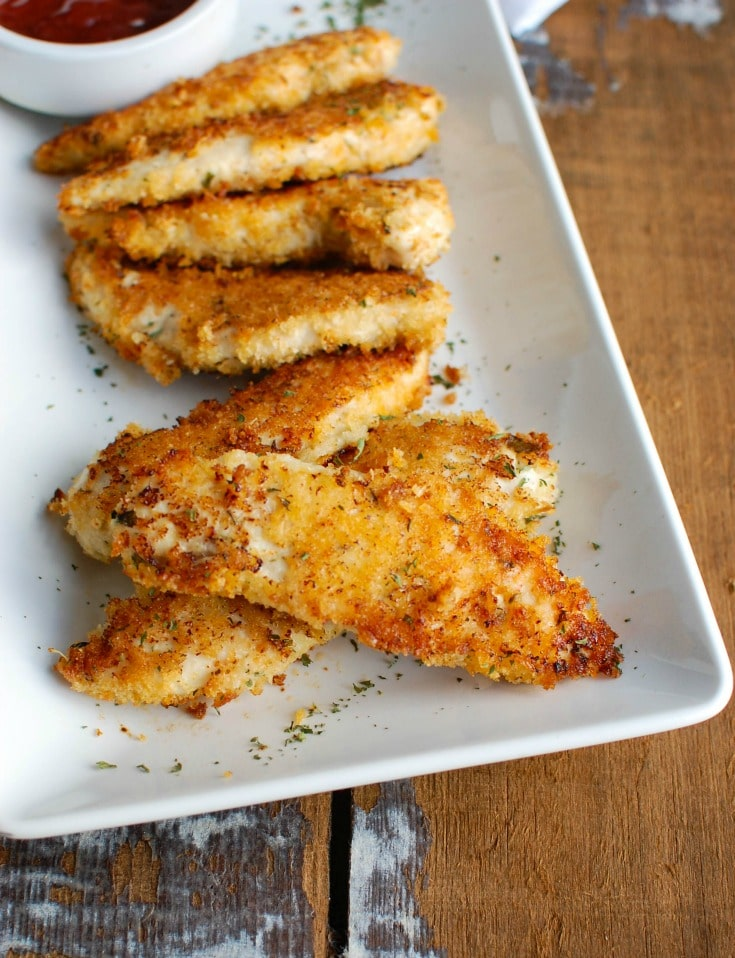 Healthy Chicken Fingers up close