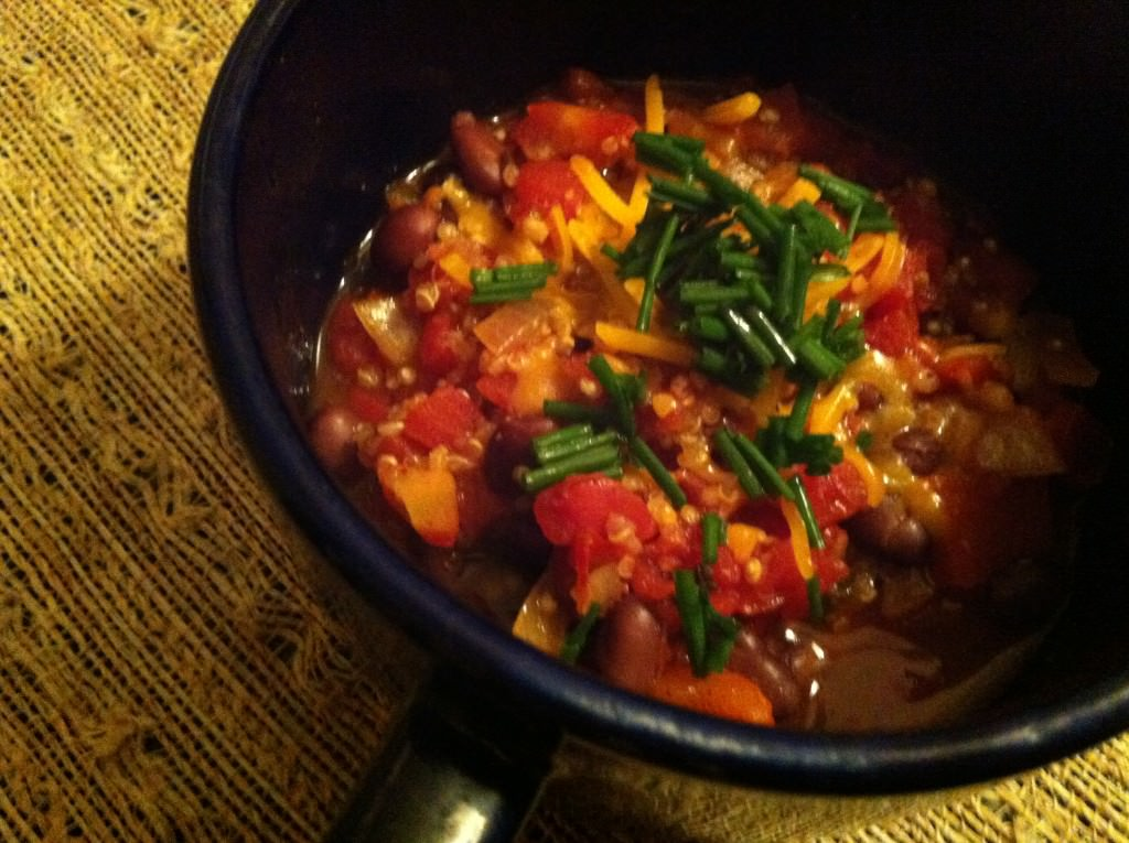 Quinoa Chili With Roasted Peppers Recipe