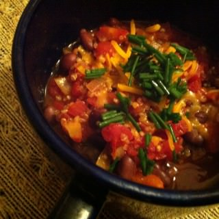 Quinoa Chili with Roasted Peppers