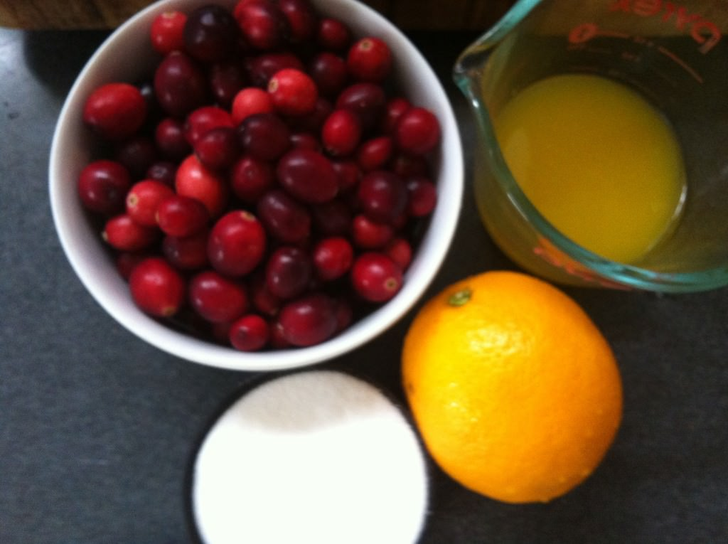 Orange Cranberry Sauce ingredients