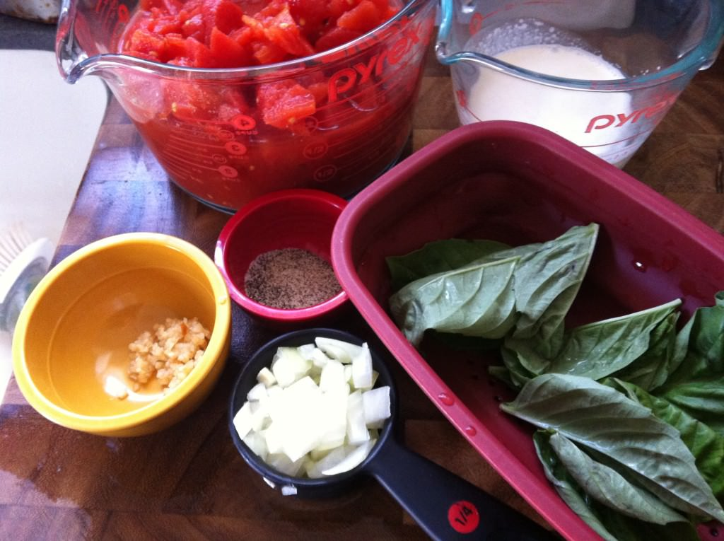 ingredients for 10 Minute Tomato Soup