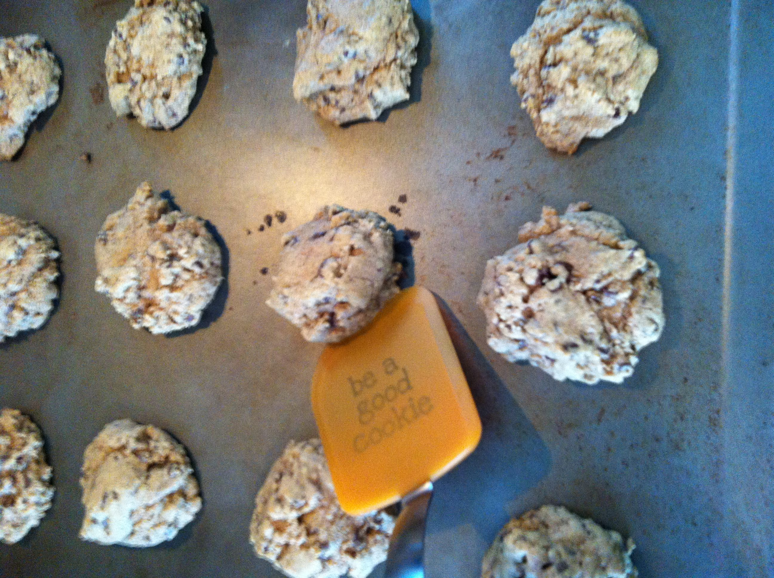 Pumpkin Spiced Chocolate Chip Cookies ready to bake