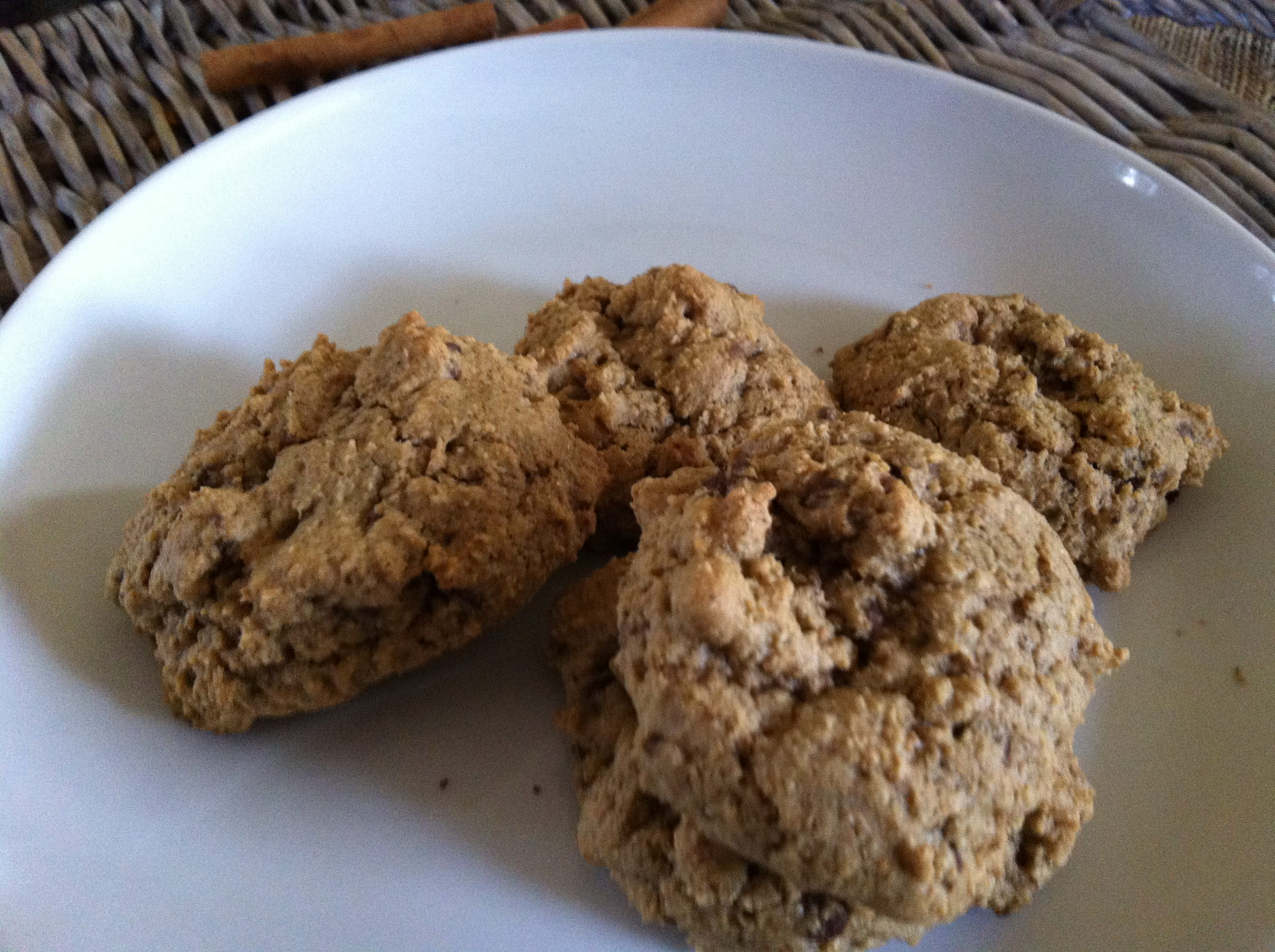 another plate of Pumpkin Spiced Chocolate Chip Cookies