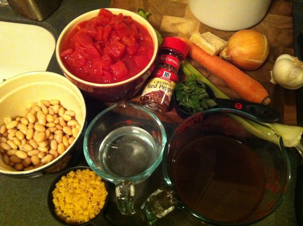 ingredients for Easy Minestrone Soup
