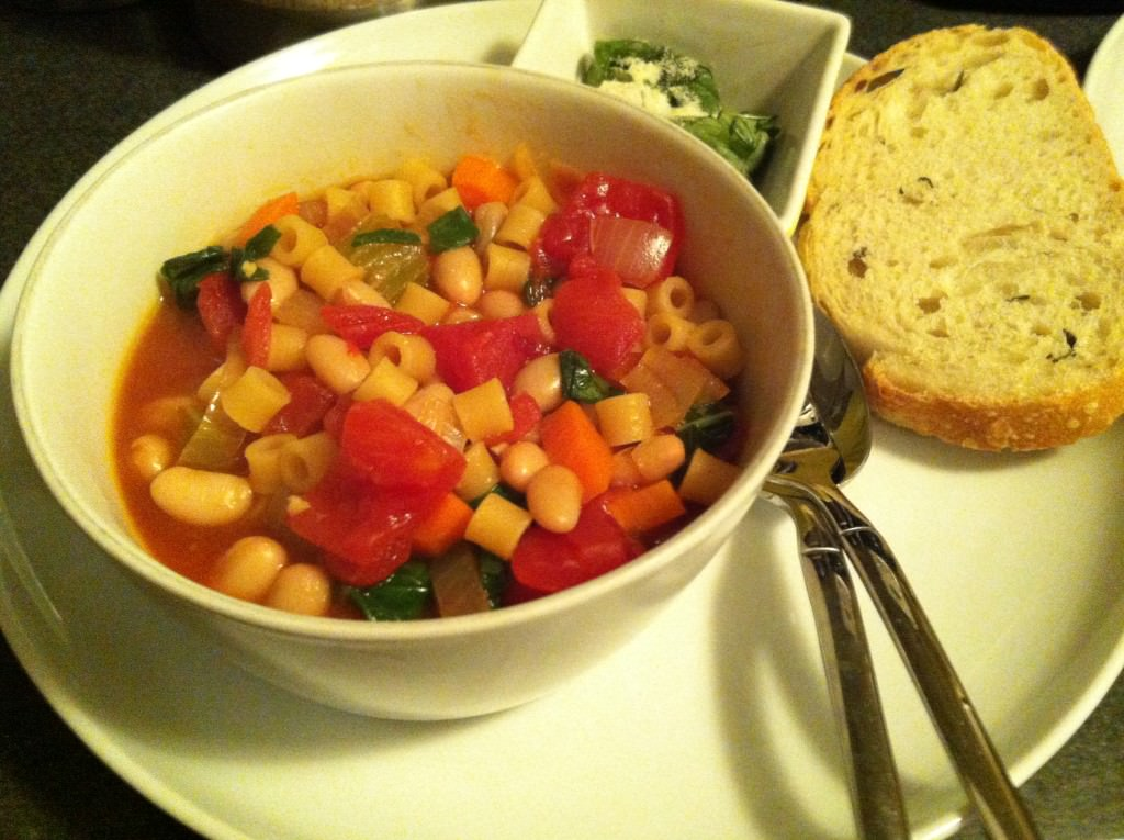 finished Easy Minestrone Soup