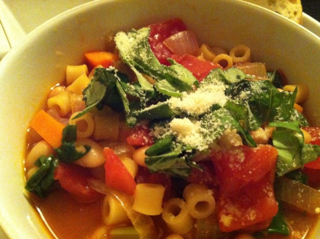 ready to eat Easy Minestrone Soup