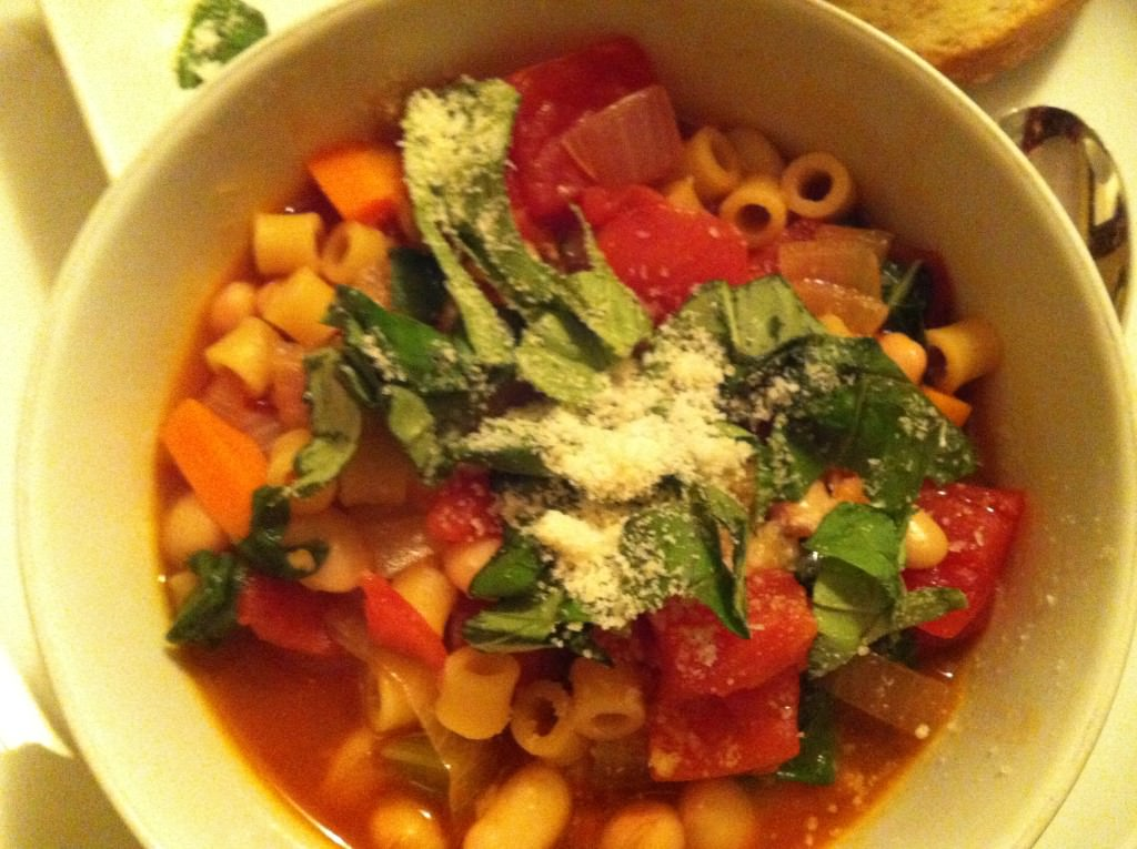 bowl of Easy Minestrone Soup