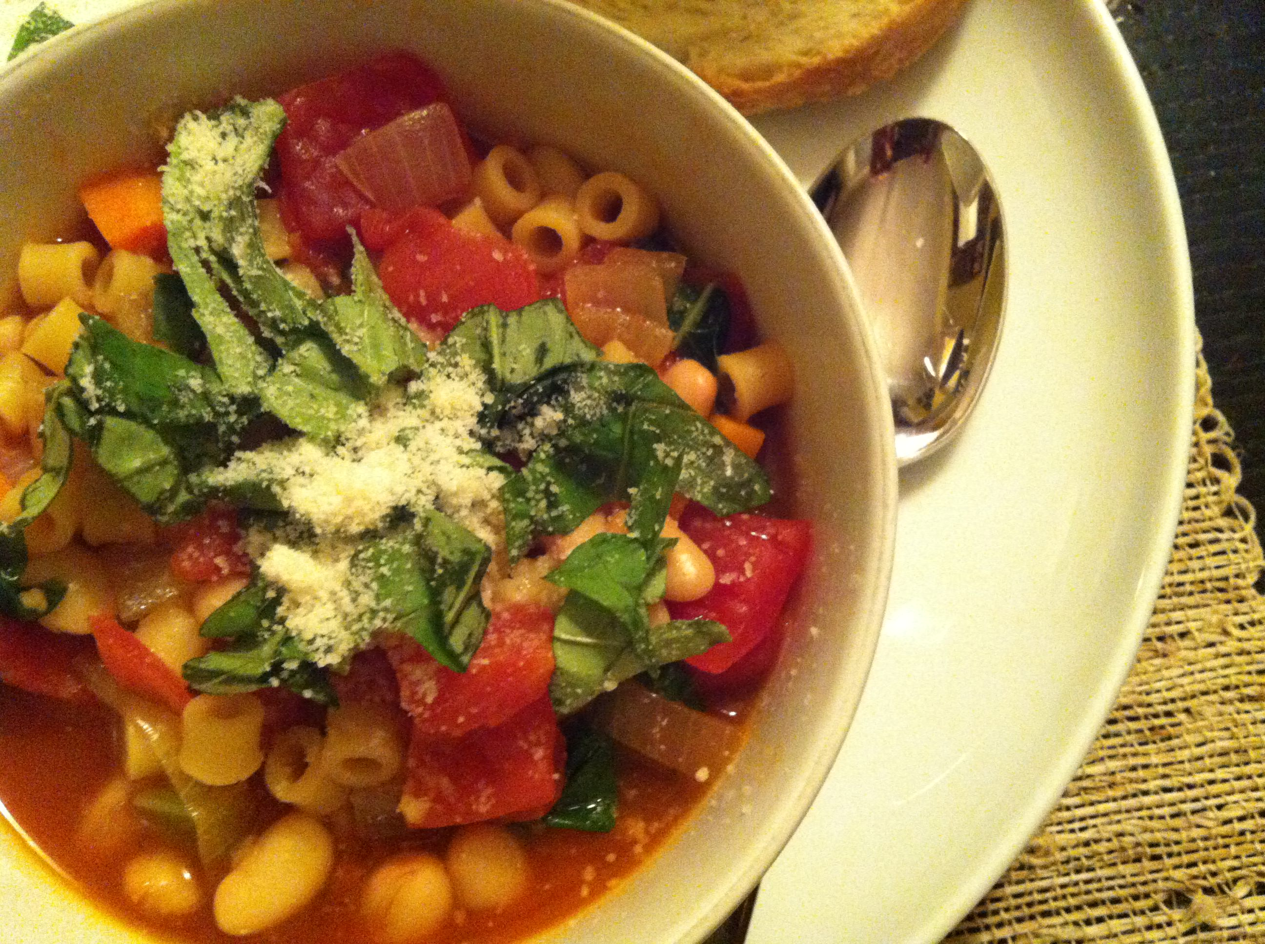 Easy Minestrone Soup is delicious!