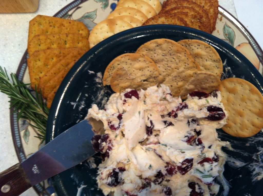 Rosemary Cranberry Spread appetizer