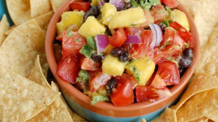 Mango and Black Bean Salsa close up