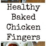 Healthy Baked Chicken Fingers on plate