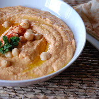 Roasted Red Pepper Hummus - A Cedar Spoon