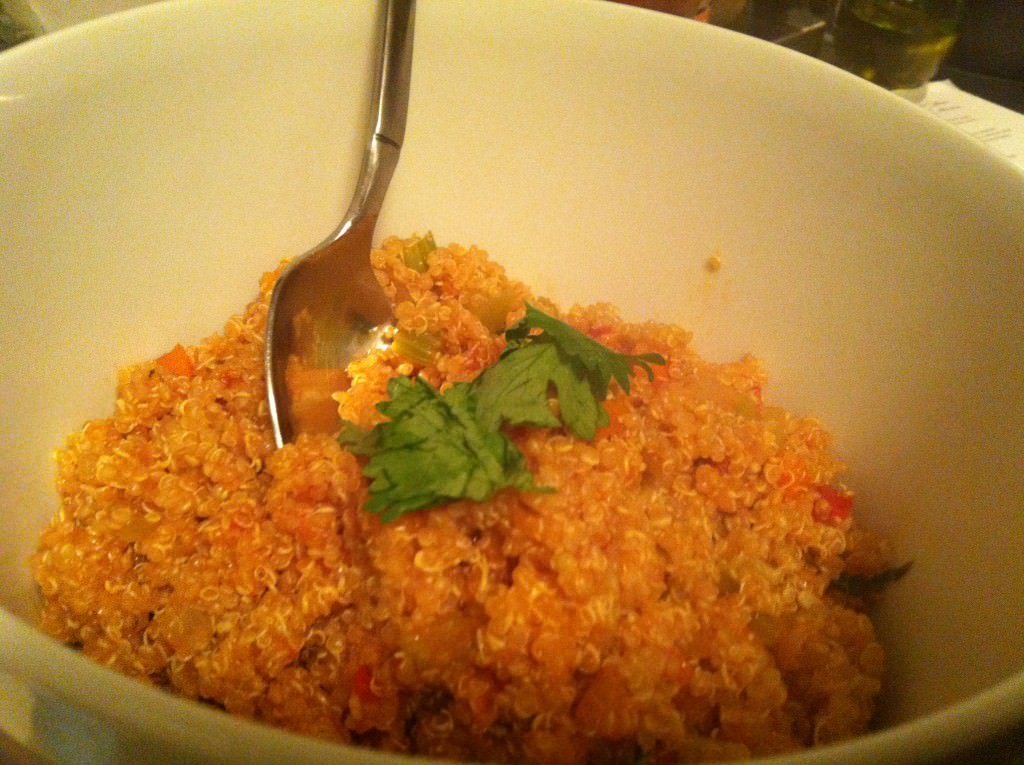 Italian Style Quinoa in a bowl