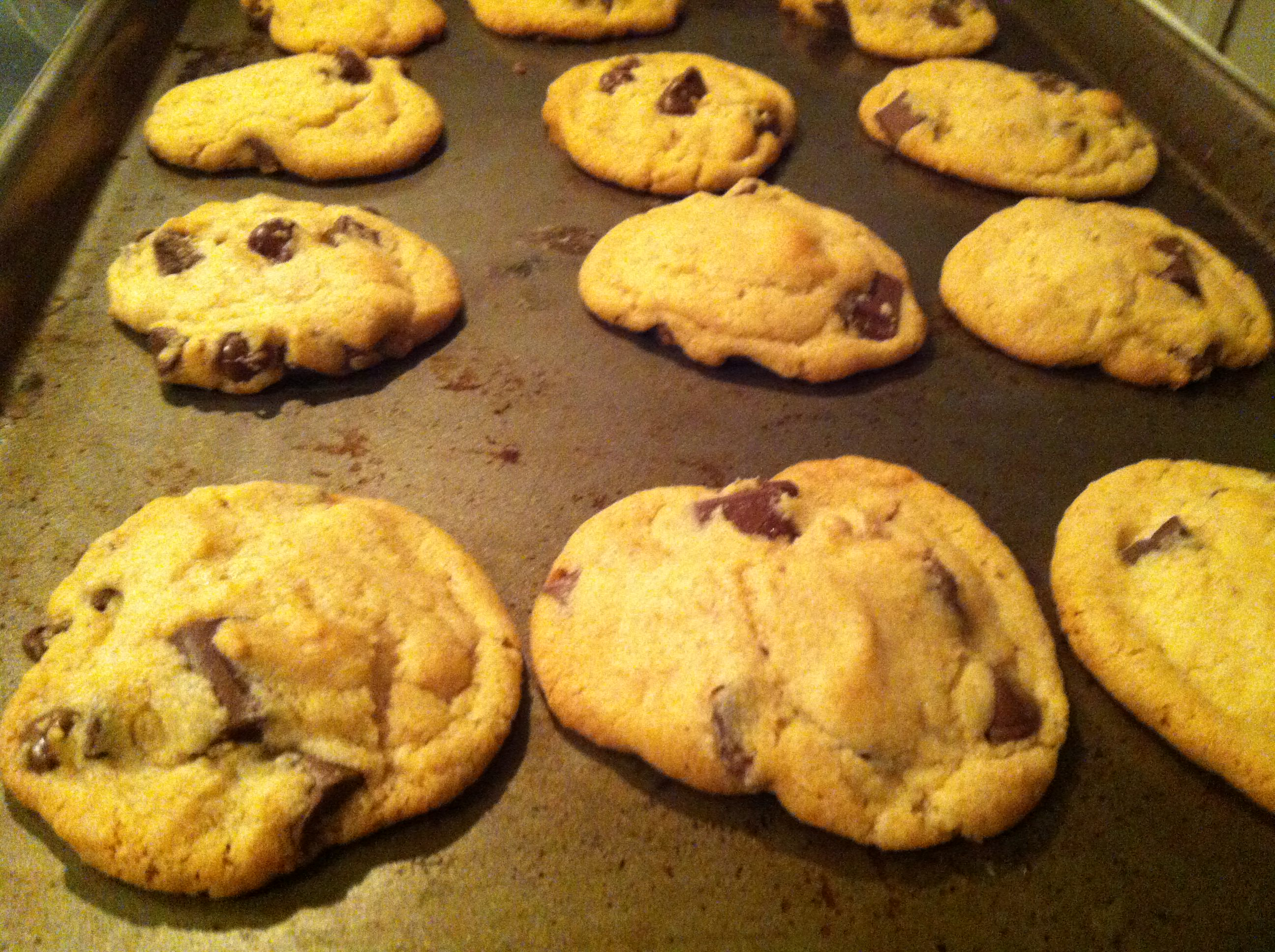 baked Double Chip Chocolate Chunk Cookies