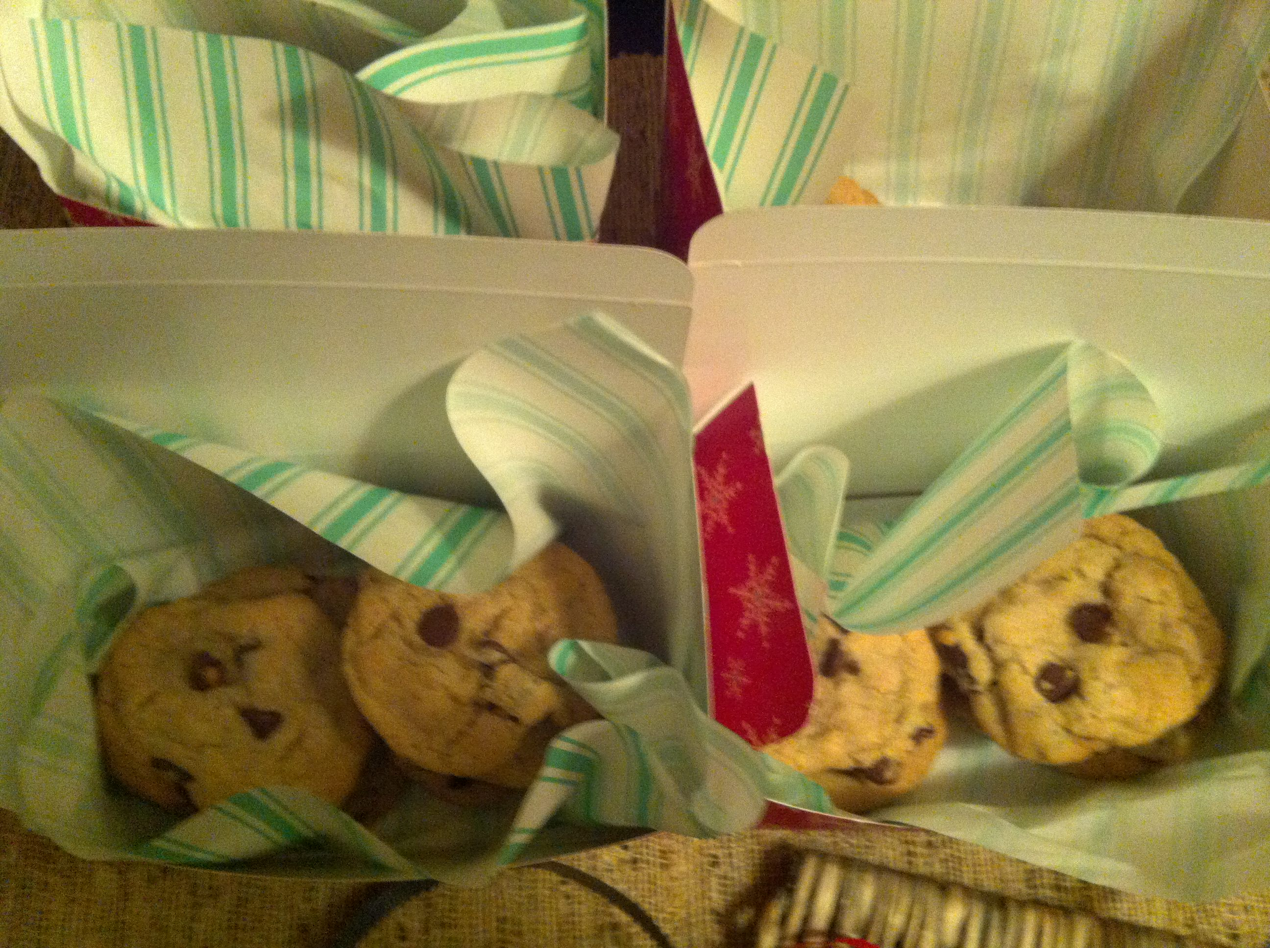 packed up to ship! Double Chip Chocolate Chunk Cookies