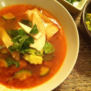 Chicken Tortilla Soup recipe from A Cedar Spoon