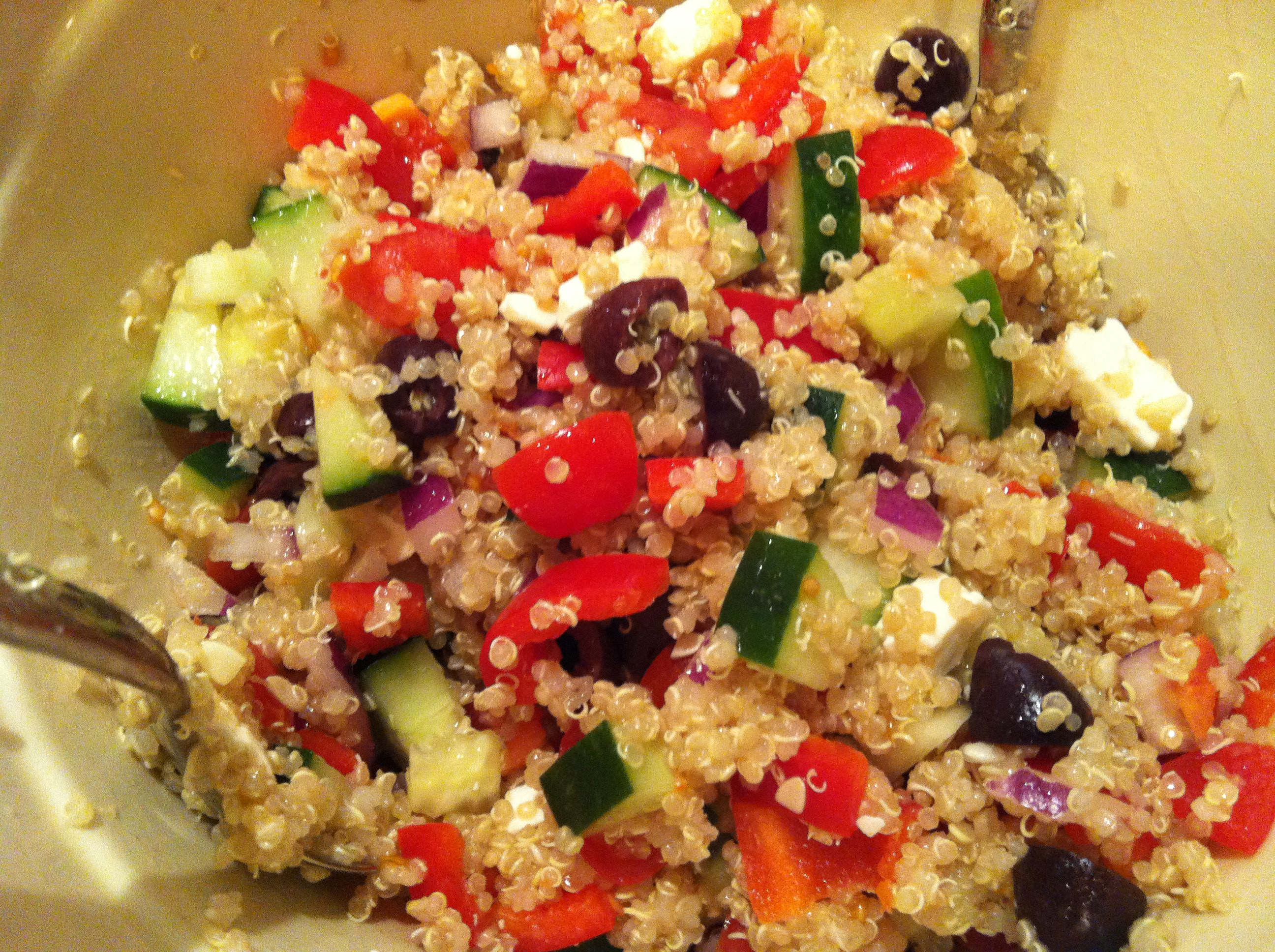 Greek Quinoa Salad Recipe ! A Cedar Spoon