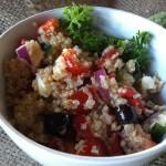 Greek Quinoa Salad recipe from A Cedar Spoon