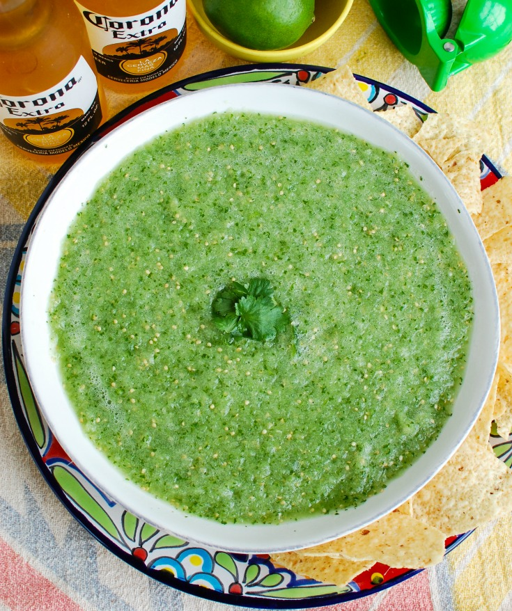 Easy Homemade Salsa Verde with beer